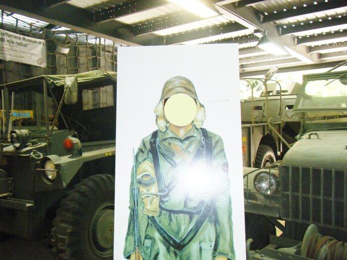 太平洋戦争博物館の軍用車