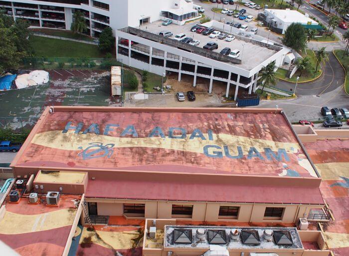 「ザ・プラザ」の屋上