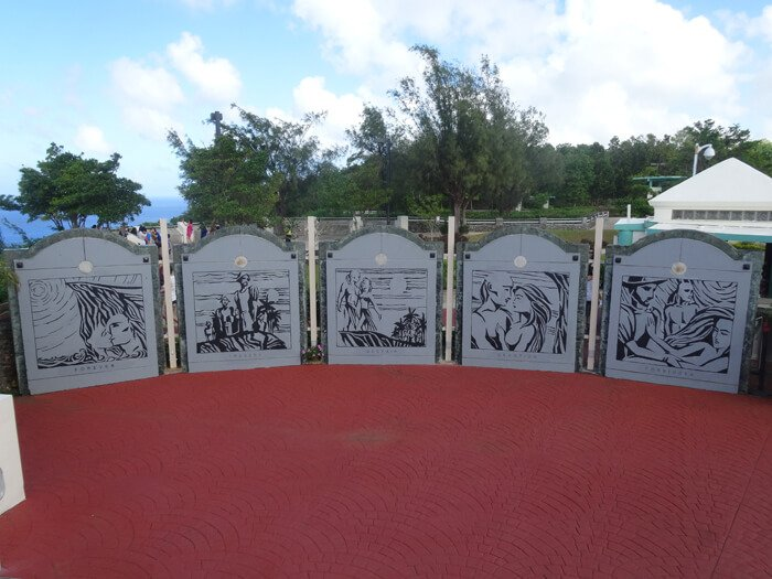 恋人岬の伝説壁画