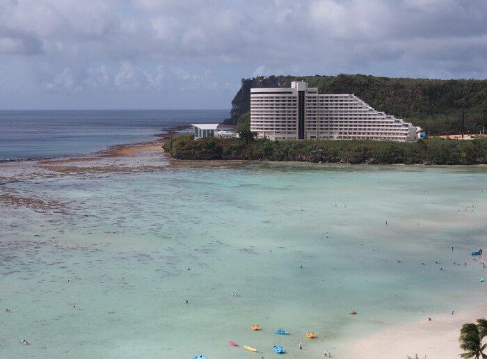 ホテルニッコーグアムの海の干上がり