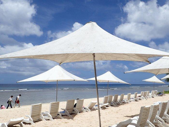ホテルニッコーグアムのビーチ