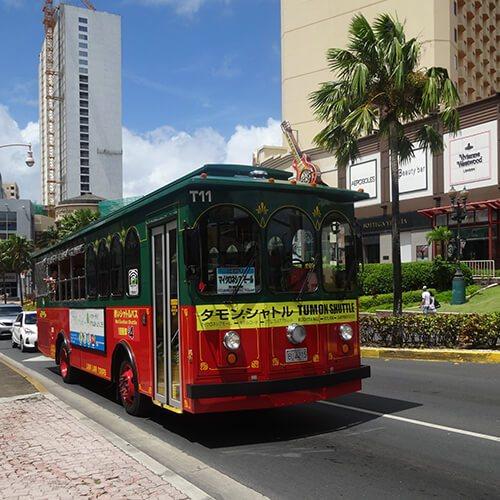 グアムのシャトルバス
