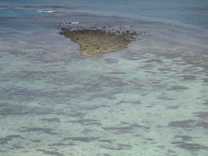 タモン湾の干上がり