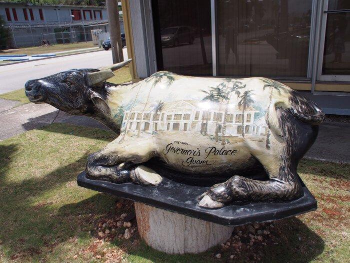 ハガニアの牛の像