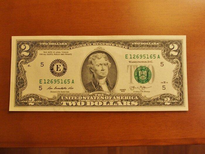 2ドル紙幣