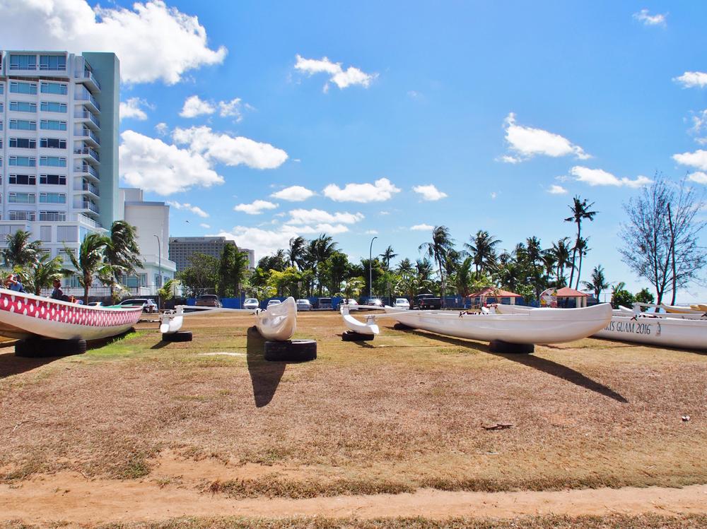 マタパンビーチの駐車場