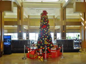 ロッテホテルのクリスマスツリー