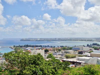 グアムアプガン砦からの眺め